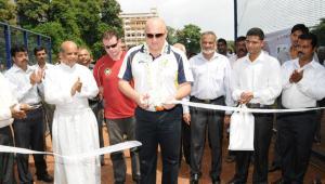 Matthew Betsey of Cricket Australia inaugurating CIA' Mangalore branch here at St. Aloysius Centenary Ground, Mangalore